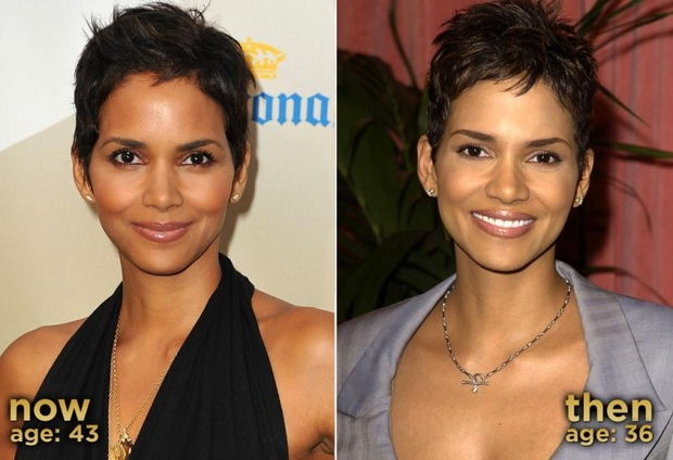 halleberrythenandnow Halle Berry doesnt let diabetes age her