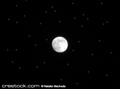 Full moon among stars. Moon is real (photo), s...